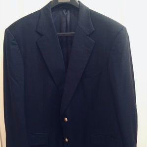Brooks Brothers Navy Blue Sport Coat Blazer 46R